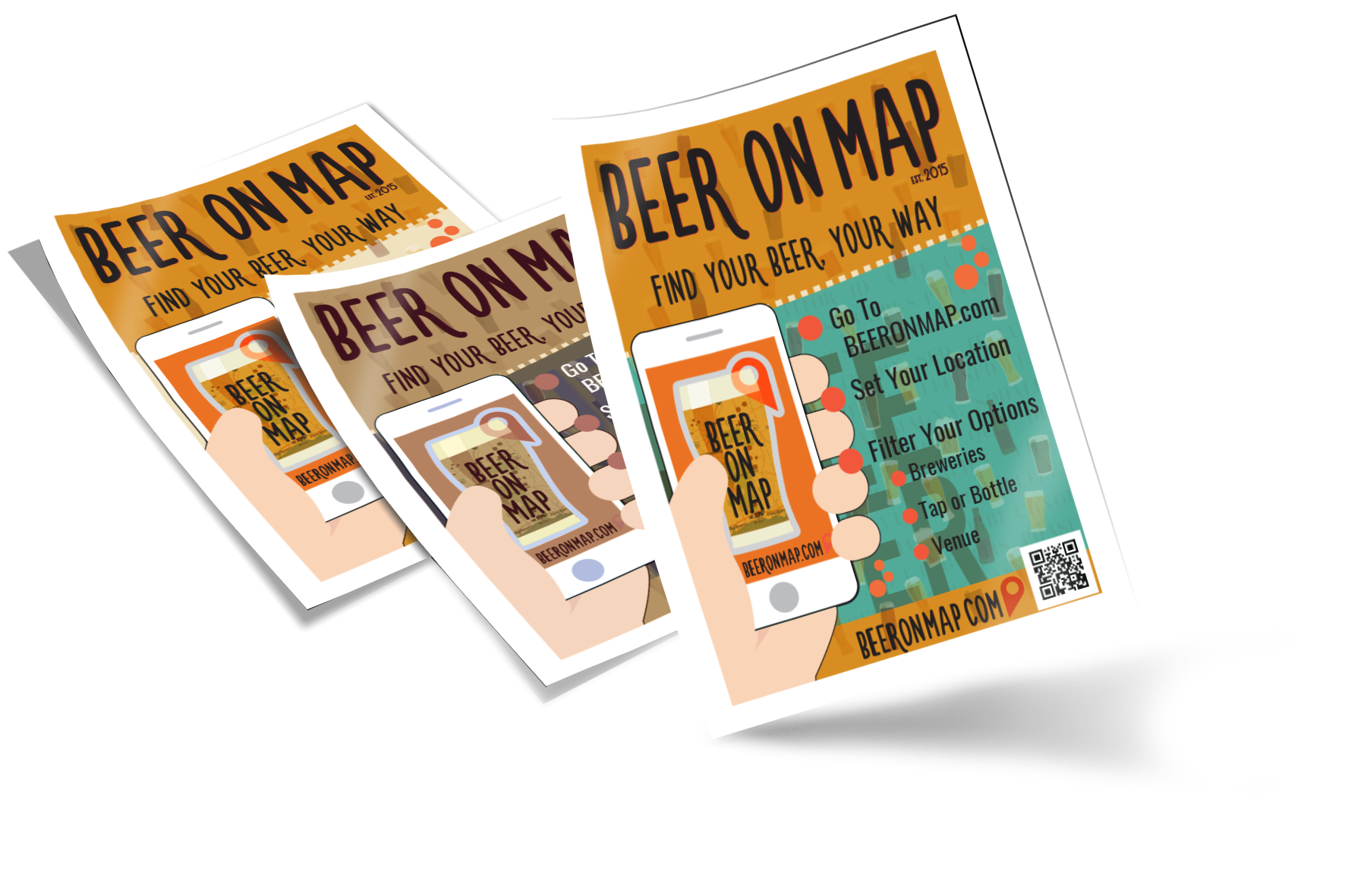 Beer on Map flier design