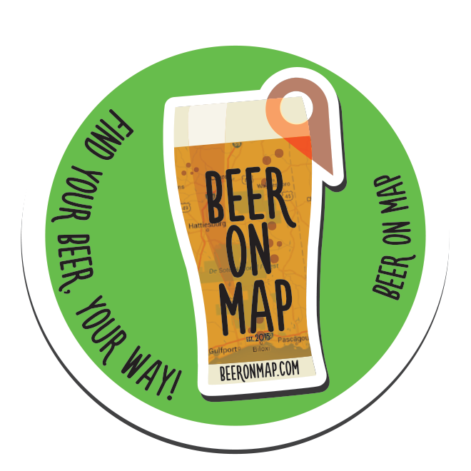Beer on Map sticker pint design