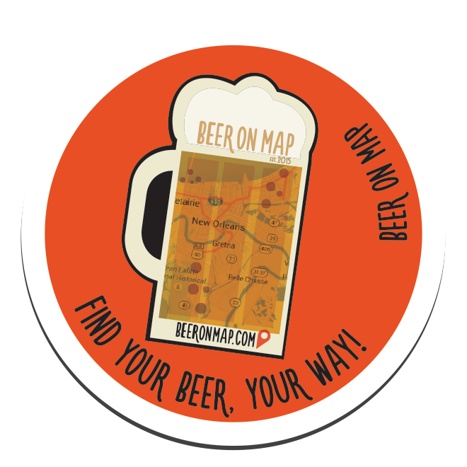 Beer on Map sticker foamy design