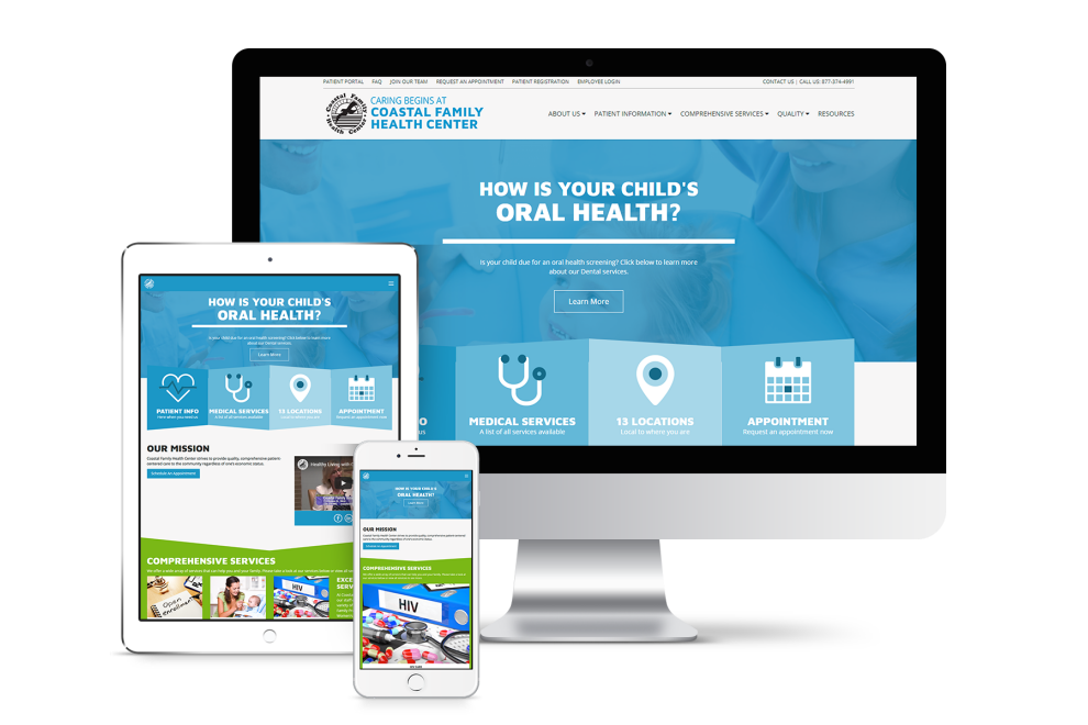 Coastal Family Health Center website project preview