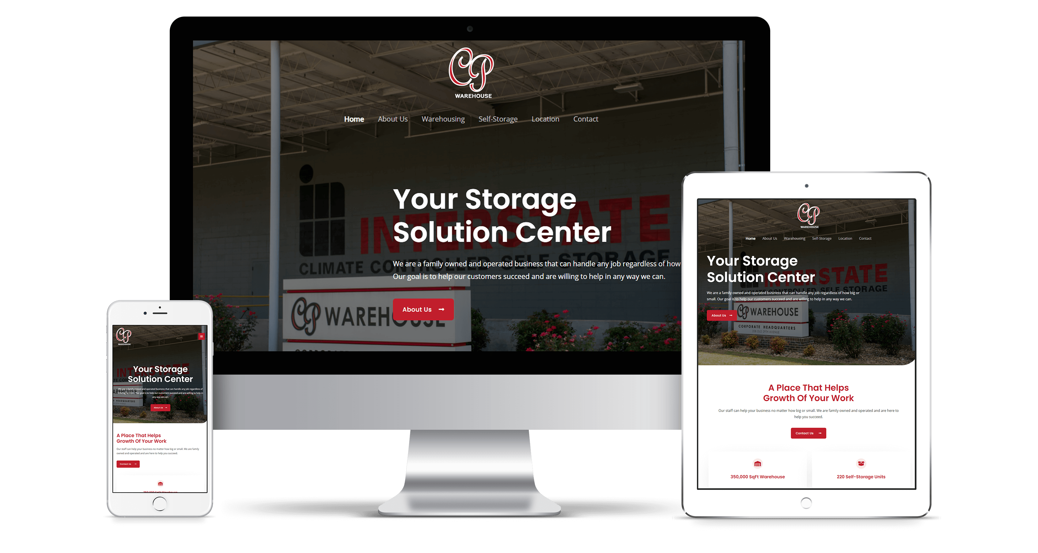 Cotton Press Warehouse website design project
