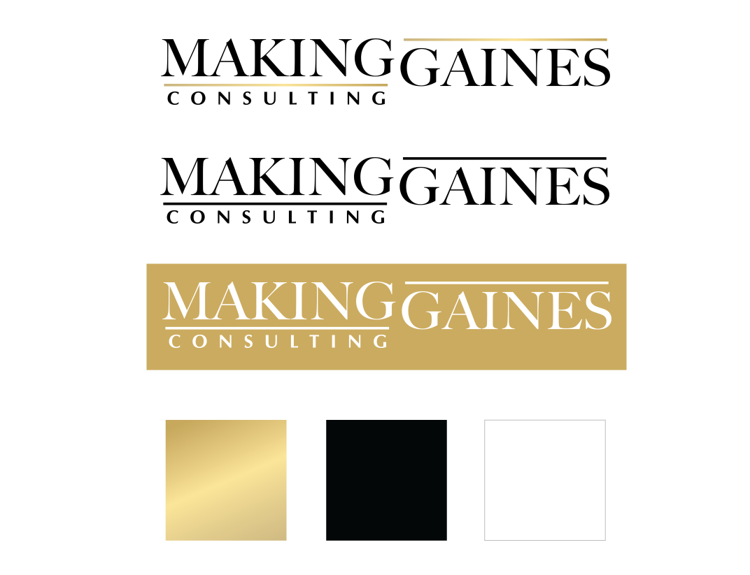 Making Gaines full logo design and color scheme