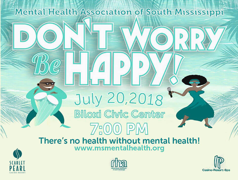 Mental Health Association of South Mississippi flier and brochure design