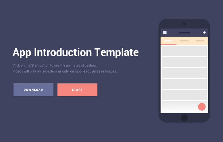 Introducing the Mobile App Introduction Template